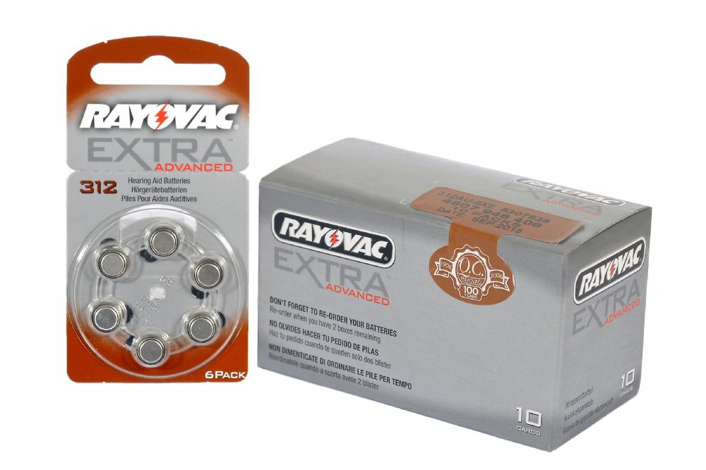 Rayovac Hearing Aid Batteries Size 312